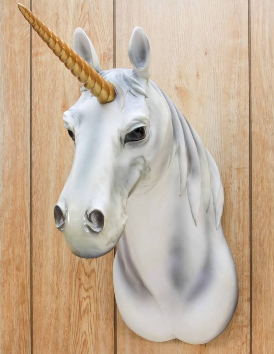 3D Unicorn Wall Art Unique Gifts – Shop Colorful Gifts Pertaining To 2017 3D Unicorn Wall Art (View 4 of 20)