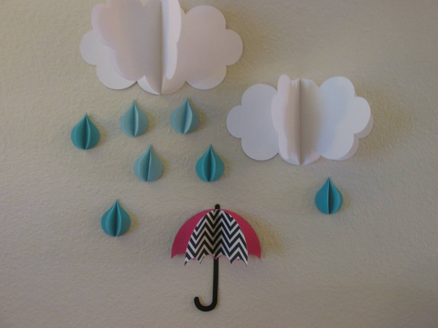 3D Wall Art 3D Baby Room Decoration Wall Art 3D Clouds Pertaining To Latest 3D Wall Art Etsy (View 4 of 20)