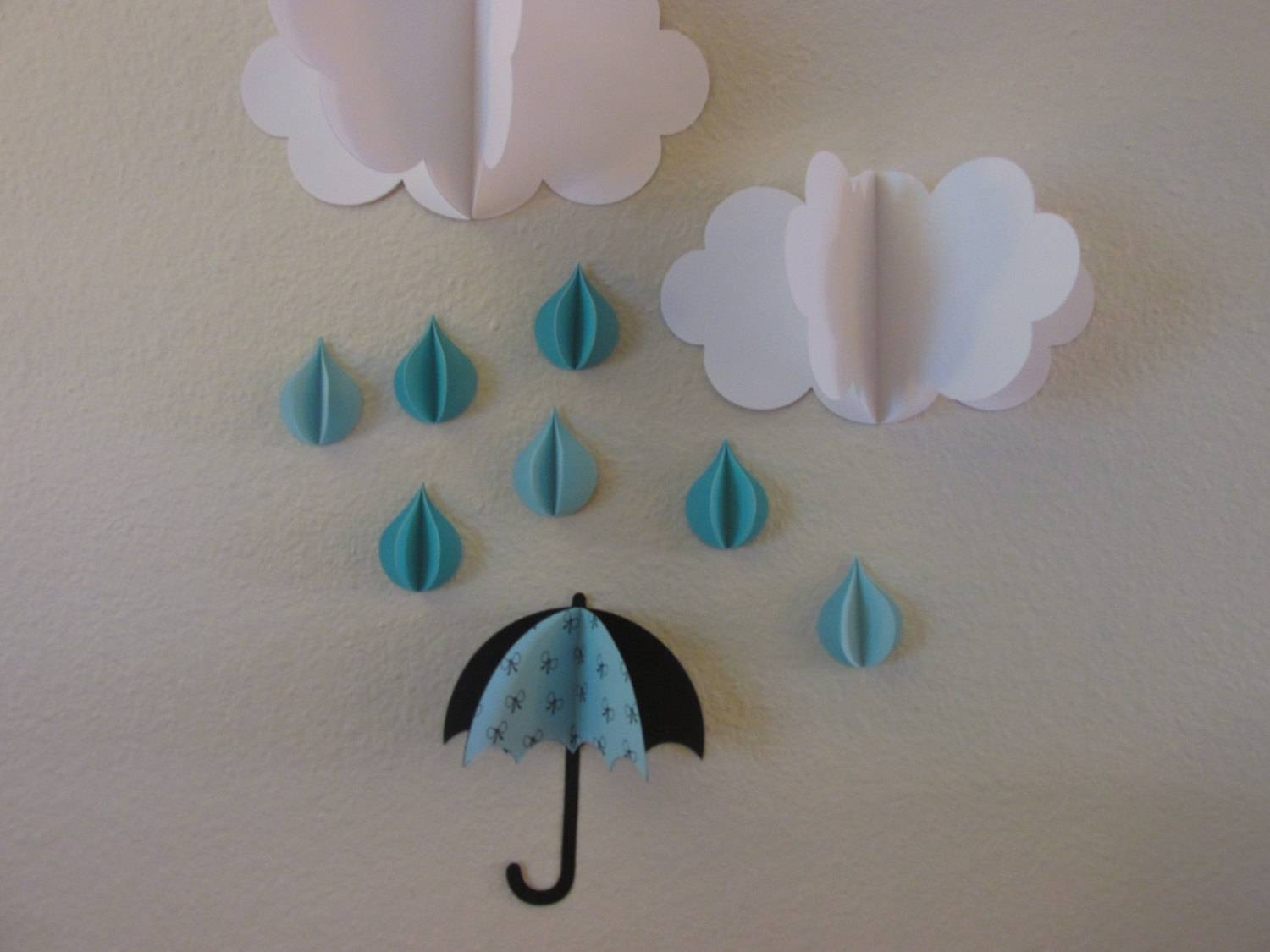 3D Wall Art 3D Baby Room Decoration Wall Art 3D Clouds With Most Current 3D Wall Art With Paper (View 8 of 20)