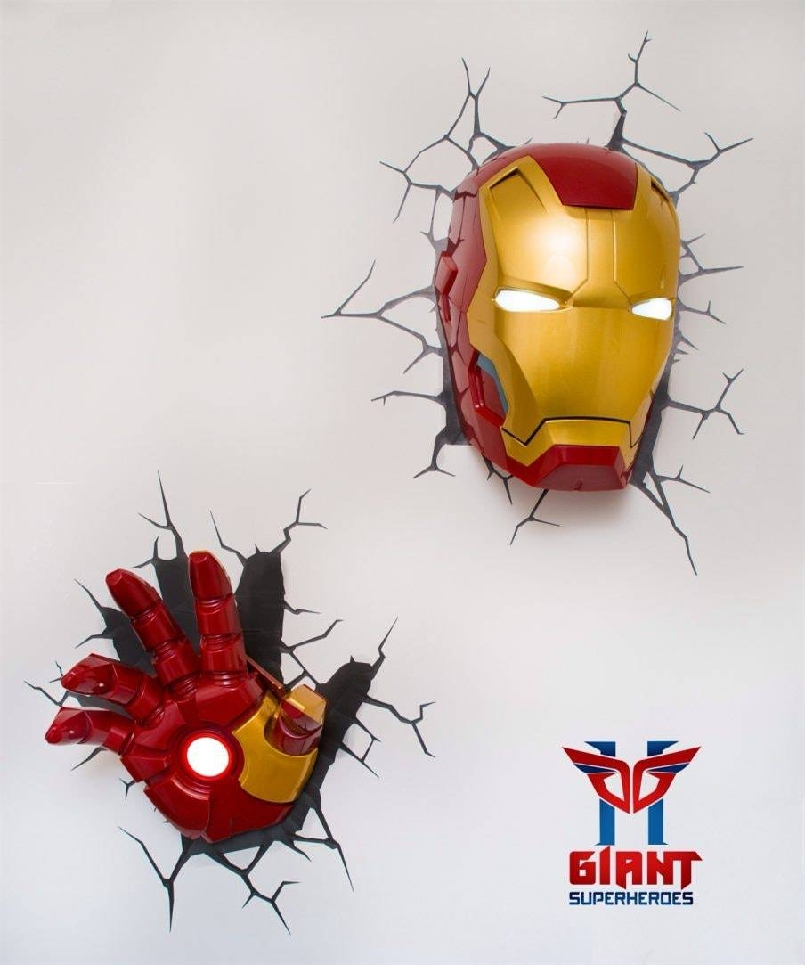 3D Wall Art Captain America Night Light Home Decor Ideas With With Regard To Recent 3D Wall Art Captain America Night Light (View 5 of 20)