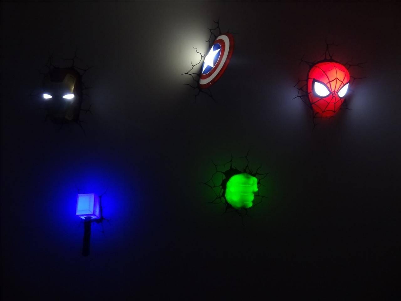 3D Wall Art Captain America Night Light | Wallartideas For Most Recent 3D Wall Art Captain America Night Light (Gallery 4 of 20)