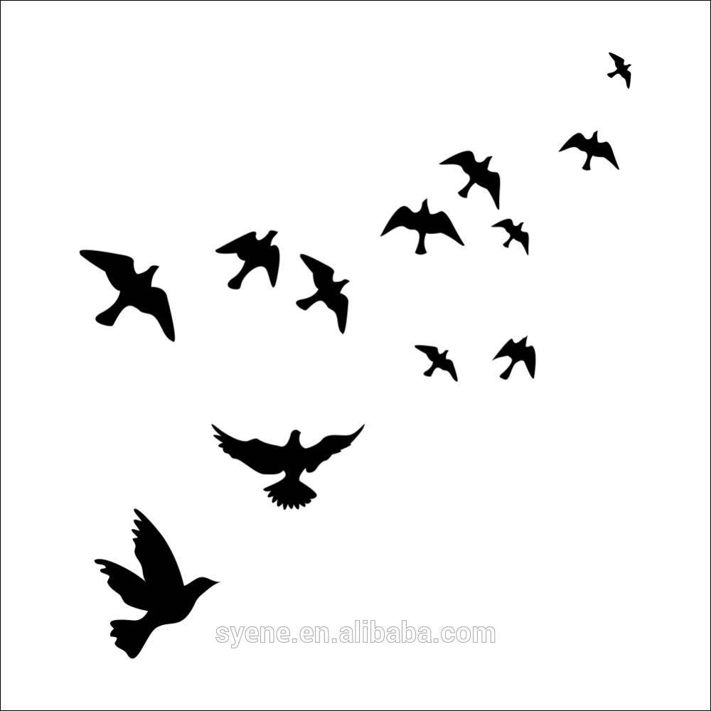 3D Wall Art Decor Peace Dove Wall Stickers Birds Art Vinyl Customs Inside Most Popular White Birds 3D Wall Art (Gallery 10 of 20)