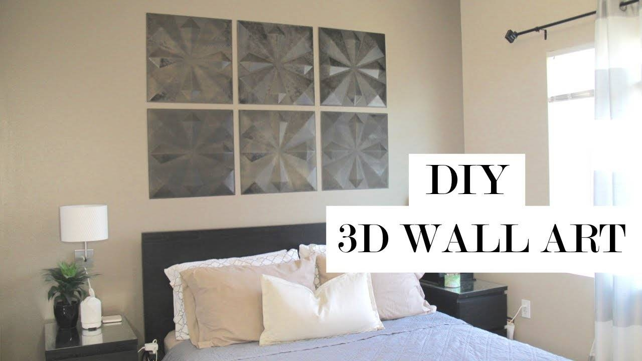 3D Wall Art Home Decor Diy | Easy And Damage Free – Youtube Intended For Current Diy 3D Wall Art Decor (Gallery 3 of 20)