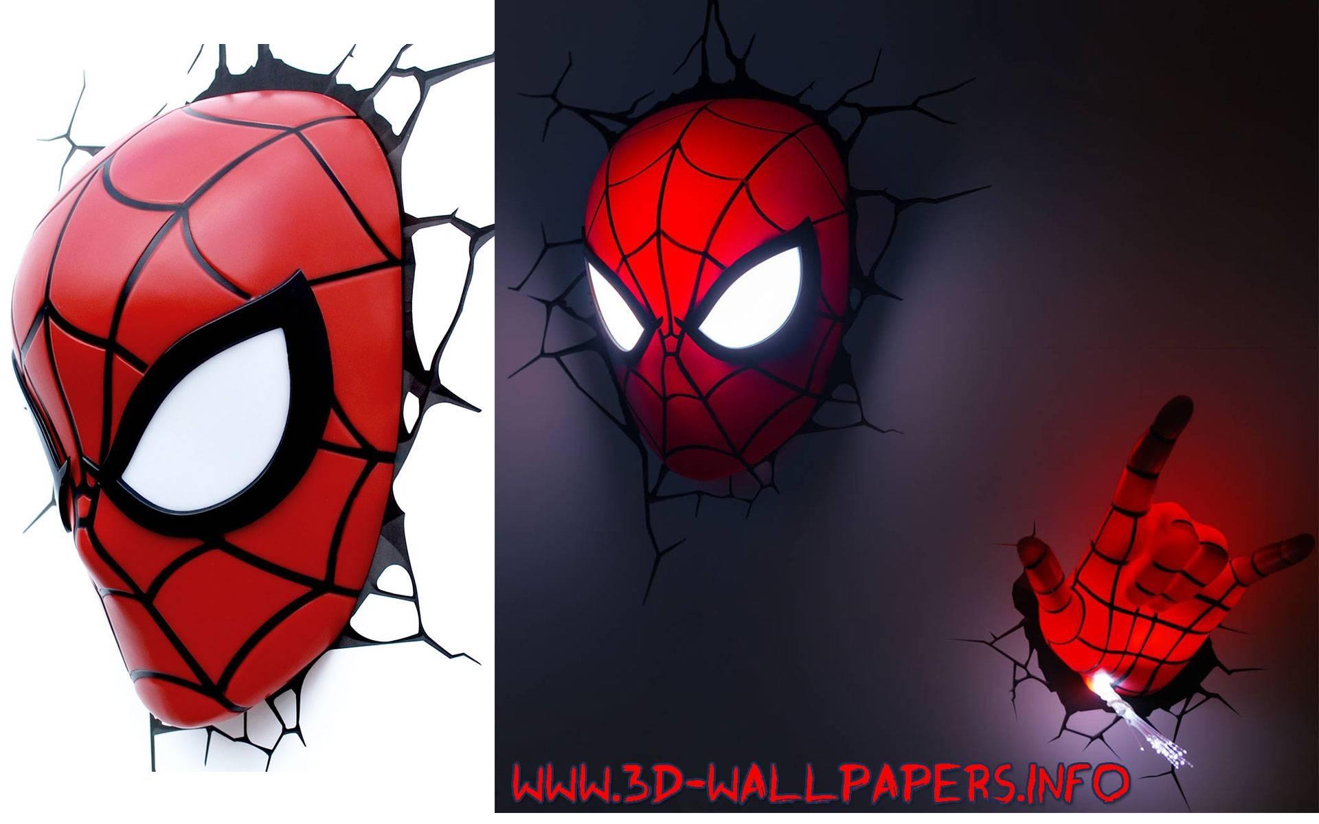 3D Wall Art Nightlight Spiderman Hand | Wallartideas Throughout Most Popular 3D Wall Art With Lights (View 3 of 20)