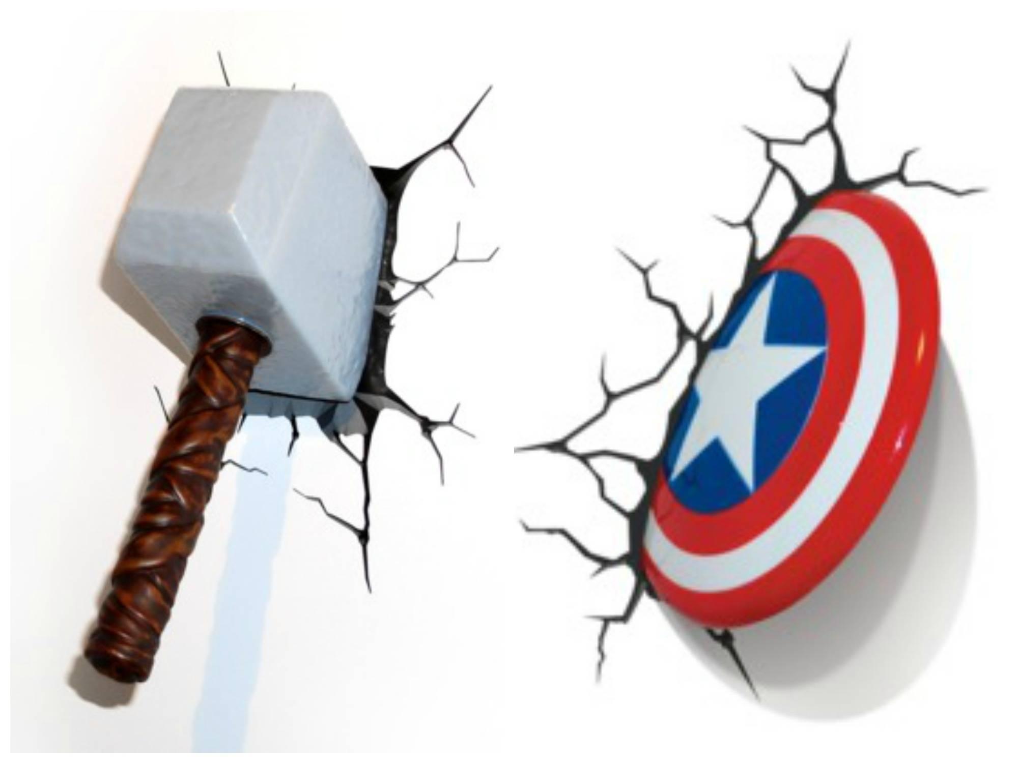 3D Wall Art Thor Hammer Night Light Uk | Wallartideas Inside Latest Thor Hammer 3D Wall Art (View 2 of 20)