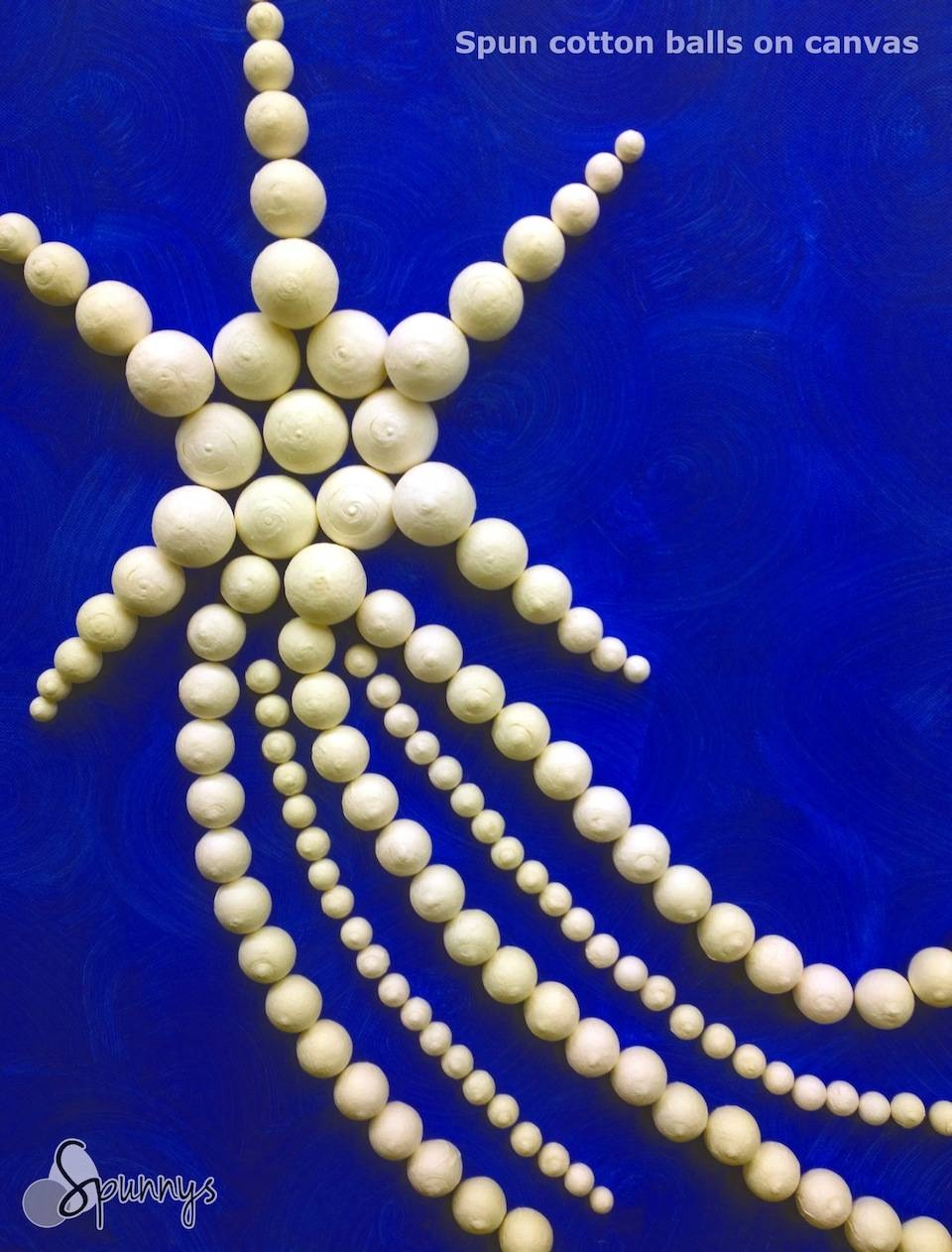 3D Wall Decor Ideas: Create Art With Spun Cotton Balls In Recent Gemstone Wall Art (View 1 of 31)