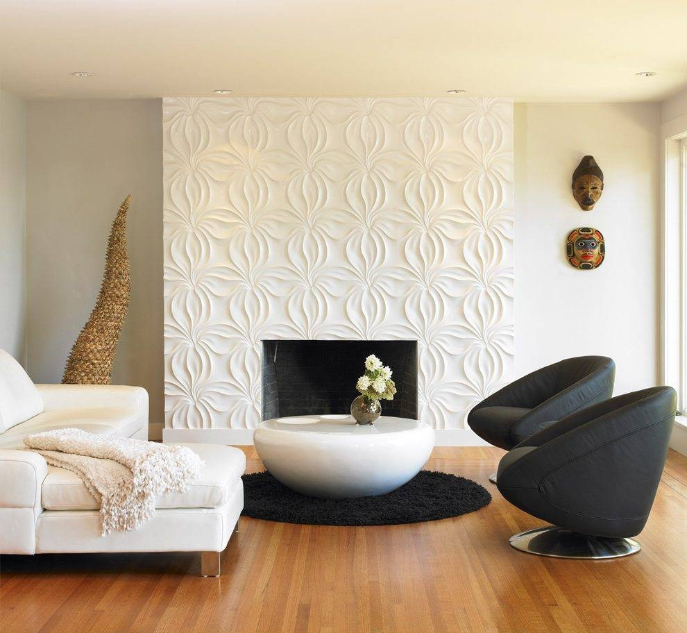 3D Wall Pattern Living Room Modern With Wall Art Contemporary in Most Recent 3D Wall Art For Living Room