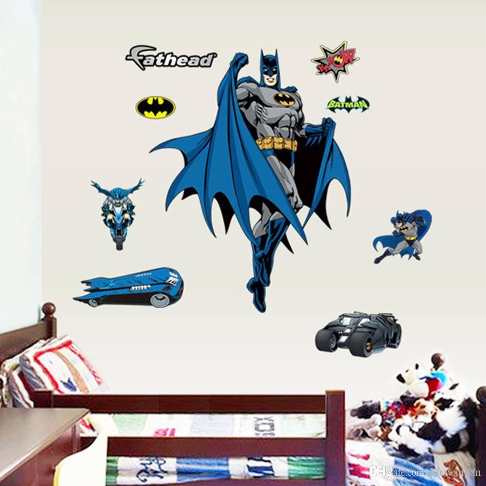 3D Wall Sticker For Kids Rooms Wall Decals Batman Cartoon Wall within Current Batman 3D Wall Art