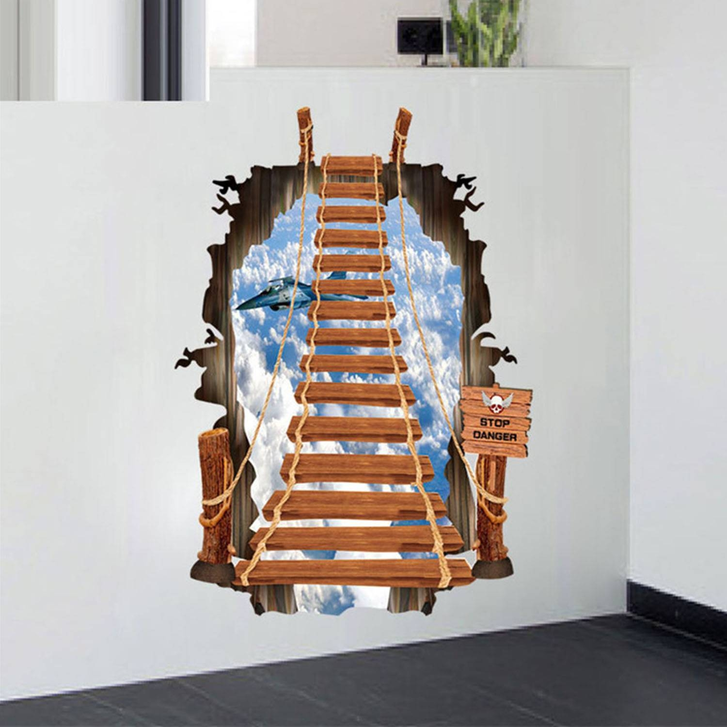 3D Wall Stickers Ladder Style Diy Wall Decals For Home Drawing Within Most Up To Date Minecraft 3D Wall Art (Gallery 13 of 20)