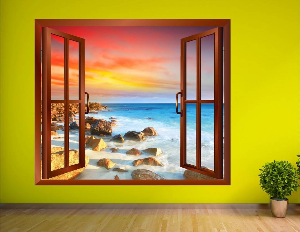3d Wall Stickers Uk – Wall Murals Ideas Regarding Most Recently Released 3d Wall Art Window (View 3 of 20)
