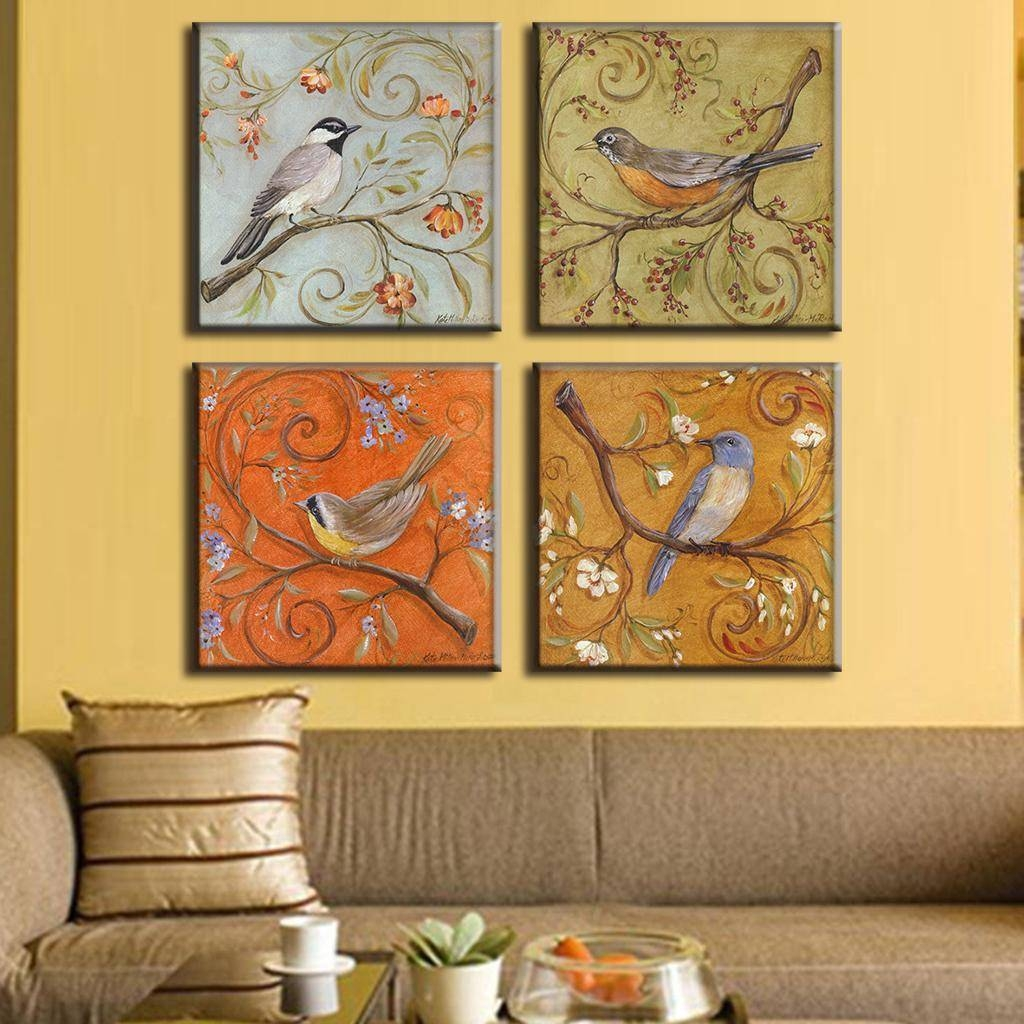 4 Pcs/set Traditional Chinese Modern Wall Paintings Chinoiserie Throughout Best And Newest Chinoiserie Wall Art (View 15 of 30)