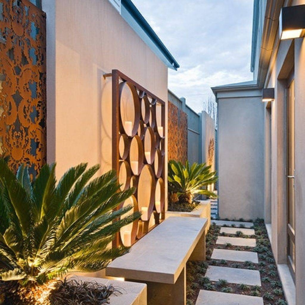 41 ~ Images Enchanting Outdoor Wall Art Ideas. Ambito.co Within Most Recent Contemporary Outdoor Wall Art (Gallery 6 of 20)