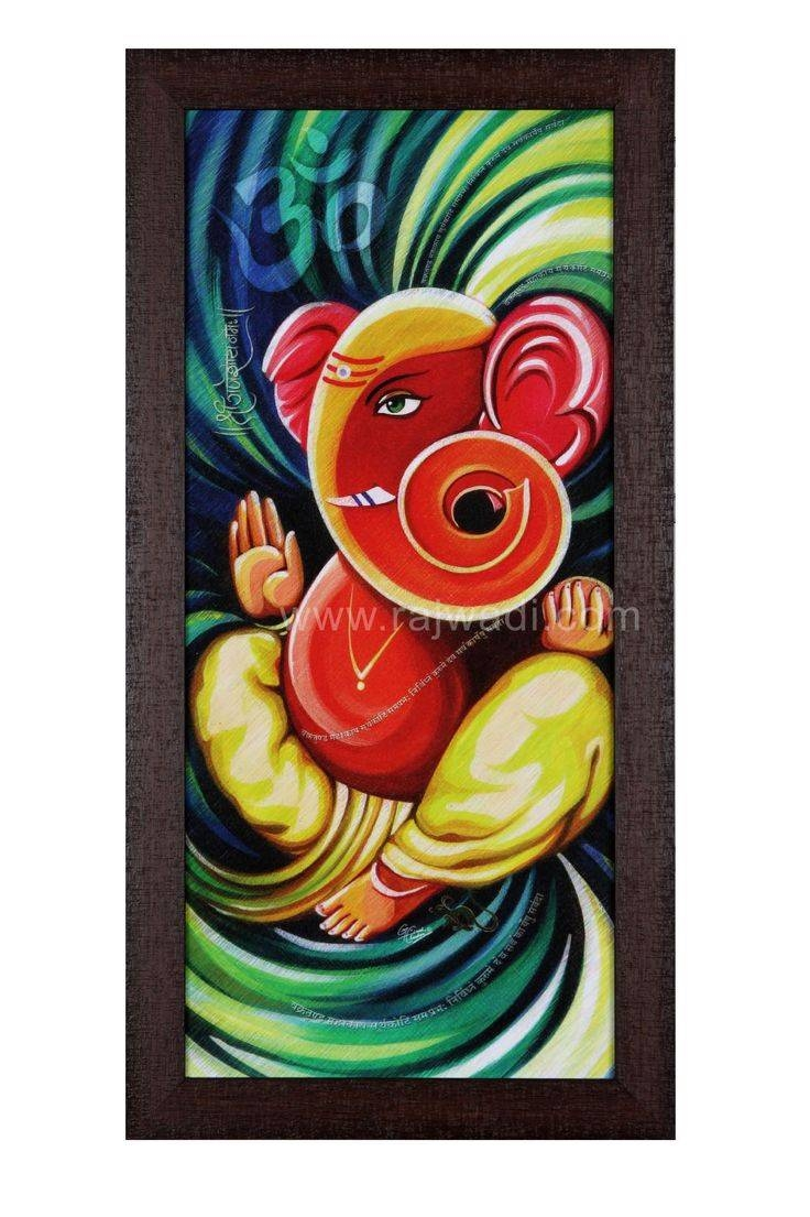 429 Best Ganesh Images On Pinterest | Lord Ganesha, Hinduism And Regarding Most Current Ganesh Wall Art (Gallery 18 of 20)