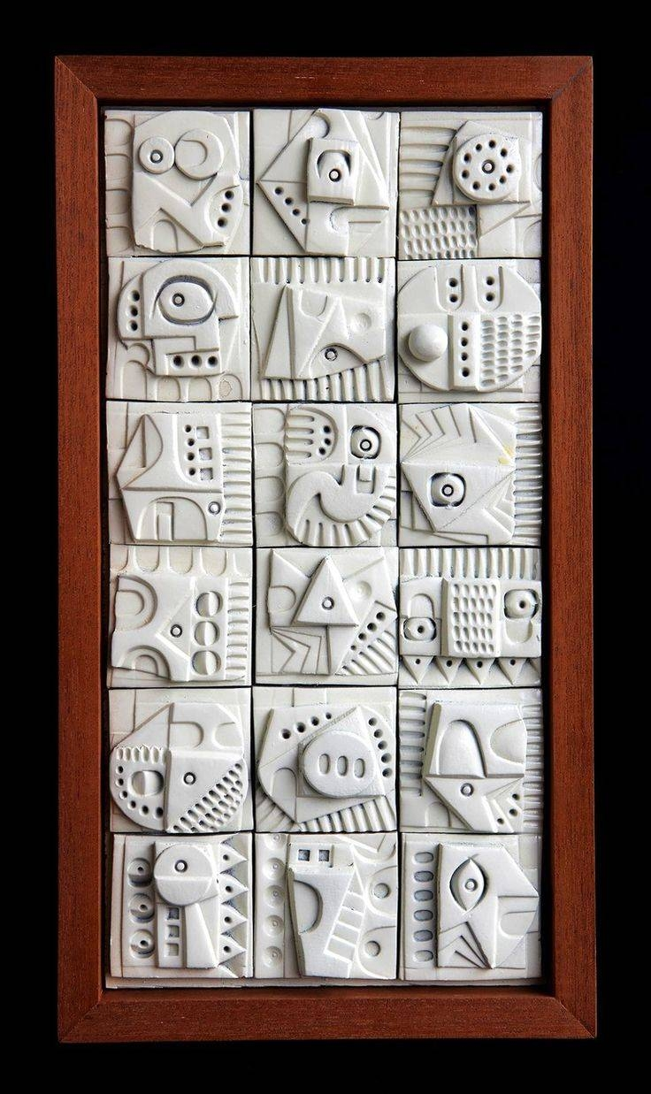 45 Best Tiles, Relief Sculpture, Bas Relief Images On Pinterest Intended For Best And Newest Ceramic Tile Wall Art (Gallery 16 of 20)