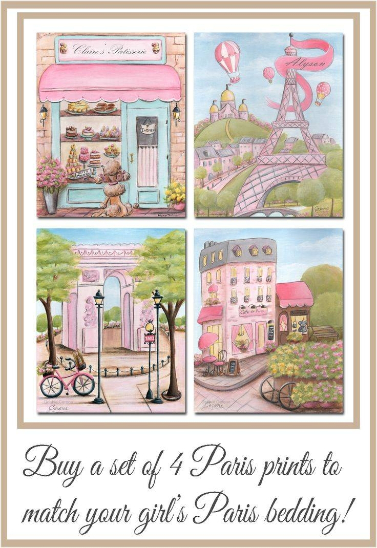 458 Best Girl's Only! Nursery & Girl's Room Murals, Wall Art For Most Recently Released Paris Theme Nursery Wall Art (Gallery 6 of 30)