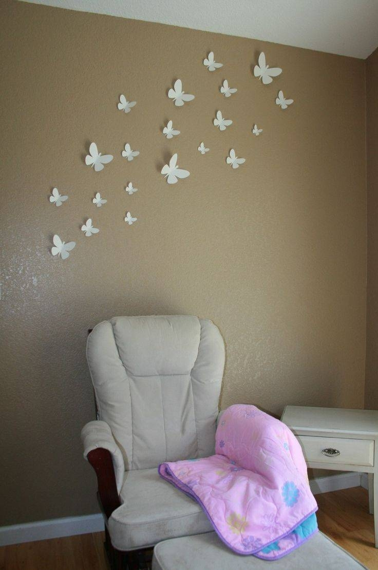 46 Best Nursery – Room And Decor Images On Pinterest | Babies Inside Recent White 3D Butterfly Wall Art (View 11 of 20)