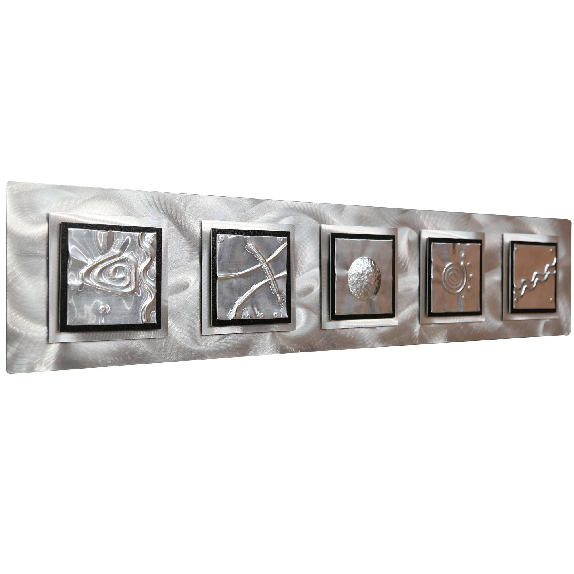 5 Elements – Silver/black Zen Metal Wall Art Accentjon Allen Regarding Most Recent Rectangular Metal Wall Art (View 1 of 20)