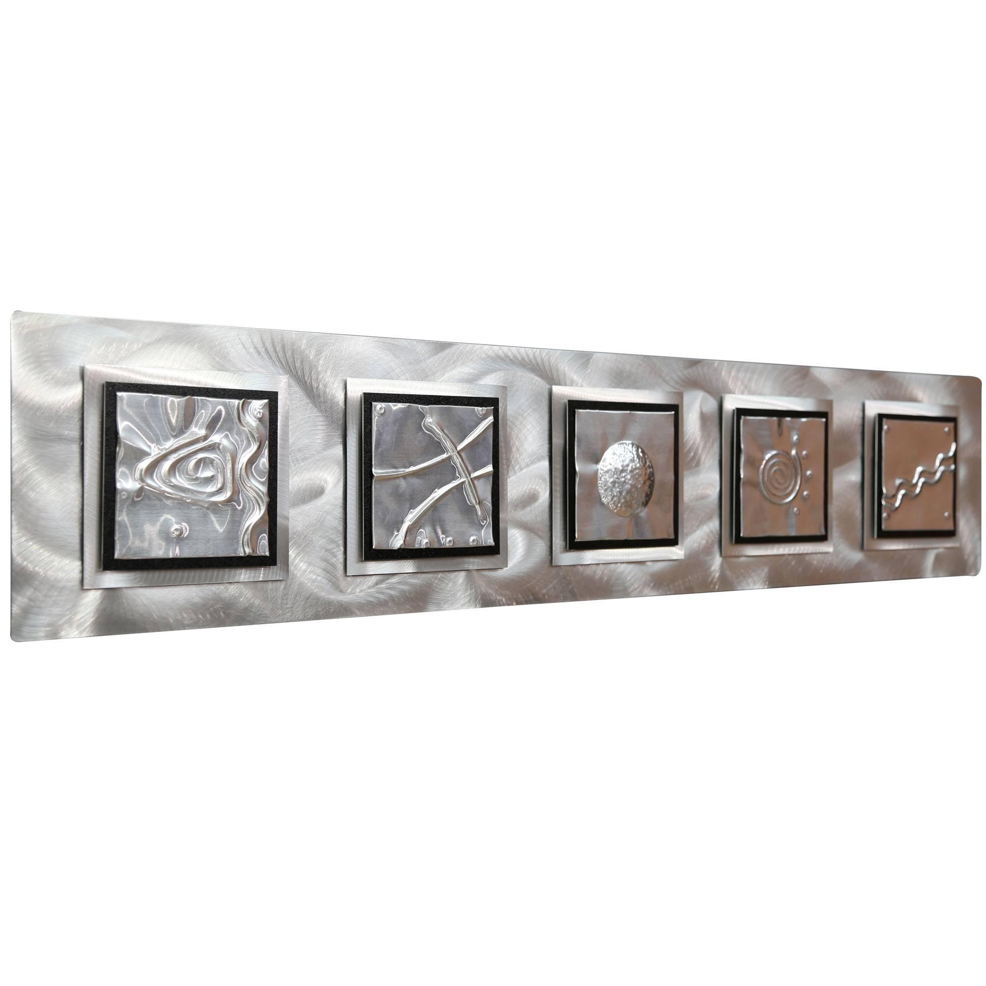 5 Elements - Silver/black Zen Metal Wall Art Accentjon Allen throughout Current Elements Wall Art