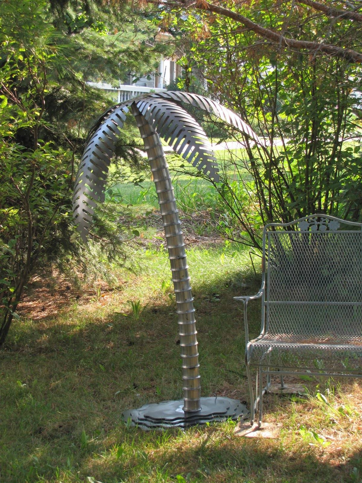5 Ft Tall Steel Palm Tree | Metal Innovations With Most Up To Date Palm Tree Metal Art (View 3 of 25)