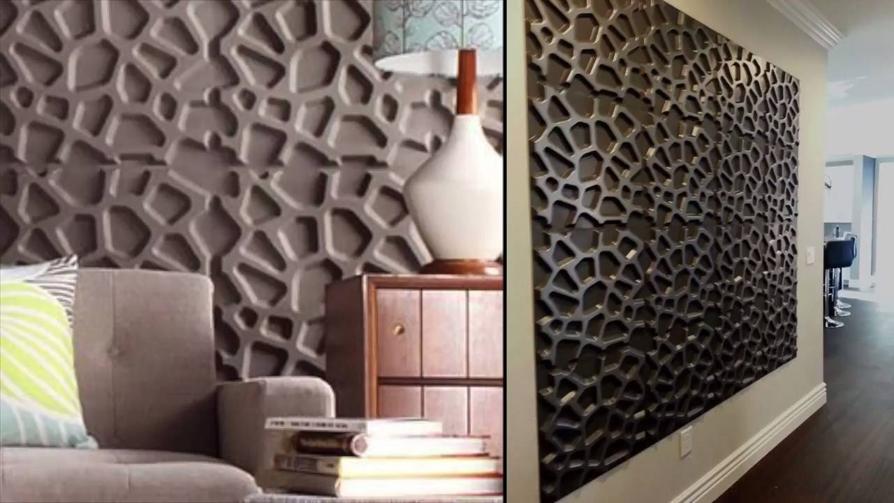 5 Steps To Enhance Your Walls Using 3D Wall Panels - Youtube within 2017 Painting 3D Wall Panels