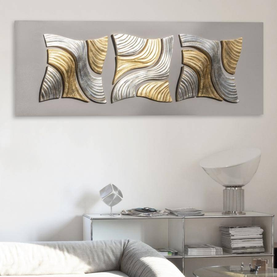 5 Unique And Cool Modern Wall Clock Ideas That Strike The Metallic Within Most Popular Uk Contemporary Wall Art (View 2 of 20)