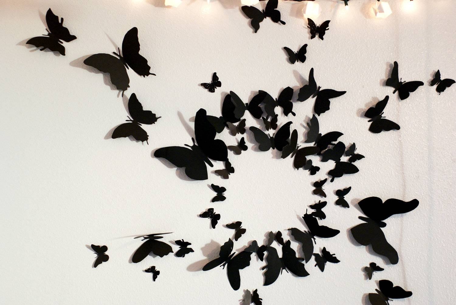 50 3D Butterfly Wall Art Circle Burst With Most Popular Circles 3D Wall Art (View 7 of 20)