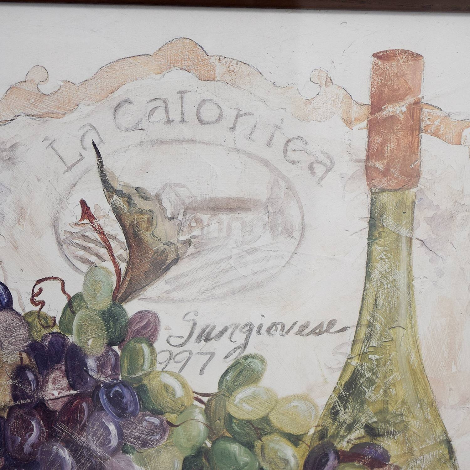 50% Off – Fortunoff Fortunoff Wine And Grape Wall Art / Decor Throughout Latest Grape Wall Art (View 22 of 22)