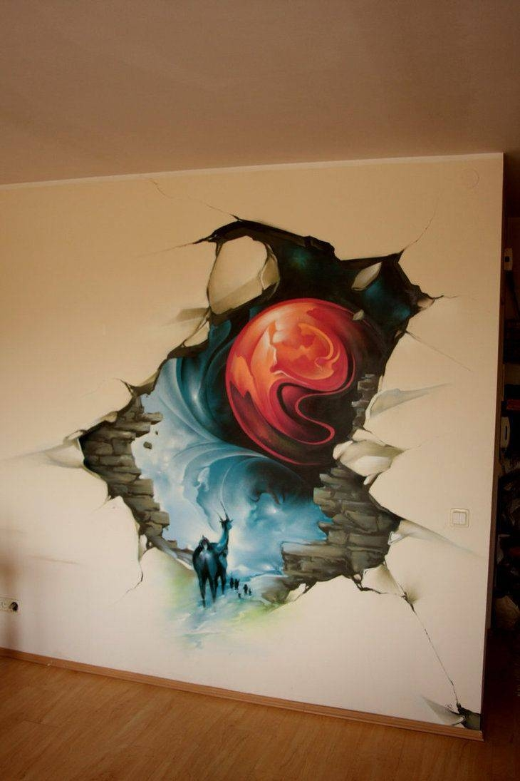 56 Best Snorgum: Graffitti Wall Images On Pinterest | Art Walls pertaining to Recent 3D Artwork On Wall