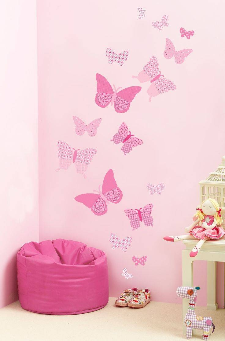58 Best Interior Wall Art Images On Pinterest | Butterfly Wall for 2018 Pink Butterfly Wall Art