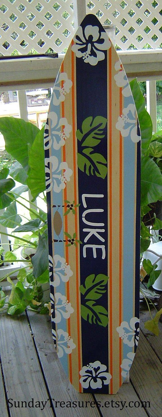 61 Best Surfboard Wall Decor Images On Pinterest | Holiday Sales Pertaining To Current Hawaiian Wall Art Decor (View 1 of 30)