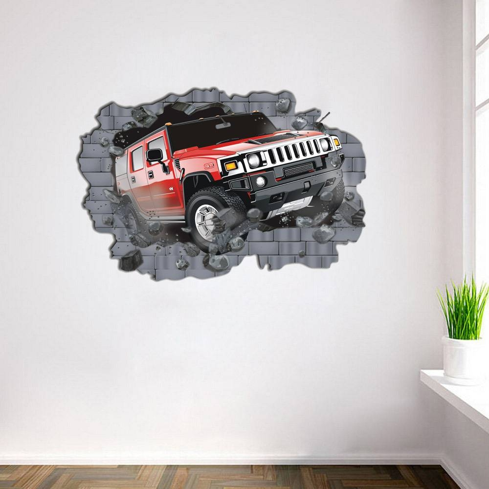70*100Cm Cartoon Cars Child Room Wall Stickers For Kids Room Boy With Most Recently Released Cars 3D Wall Art (Gallery 18 of 20)