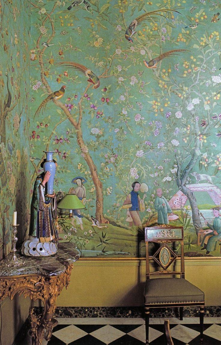 72 Best Chinoiserie Images On Pinterest | Homes, Wallpaper And With 2018 Chinoiserie Wall Art (View 4 of 30)