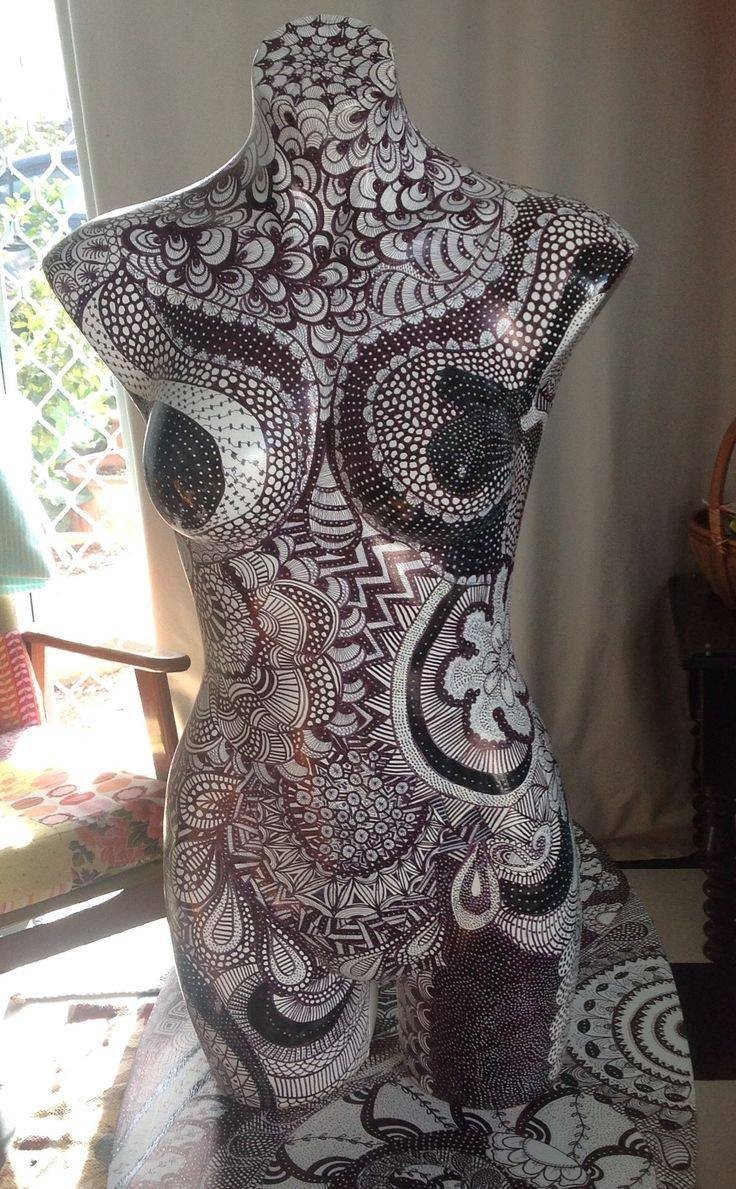 75 Best Painted Mannequins Images On Pinterest | Mannequin Art Intended For Most Current Mannequin Wall Art (View 6 of 20)