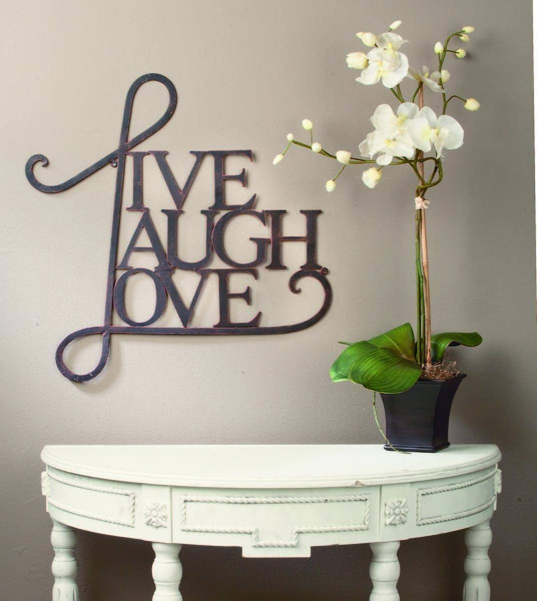 8 Best Images Of Love Wall Decor – Heart Shaped Frames, Live Laugh Intended For 2017 Live Love Laugh Metal Wall Art (Gallery 12 of 25)