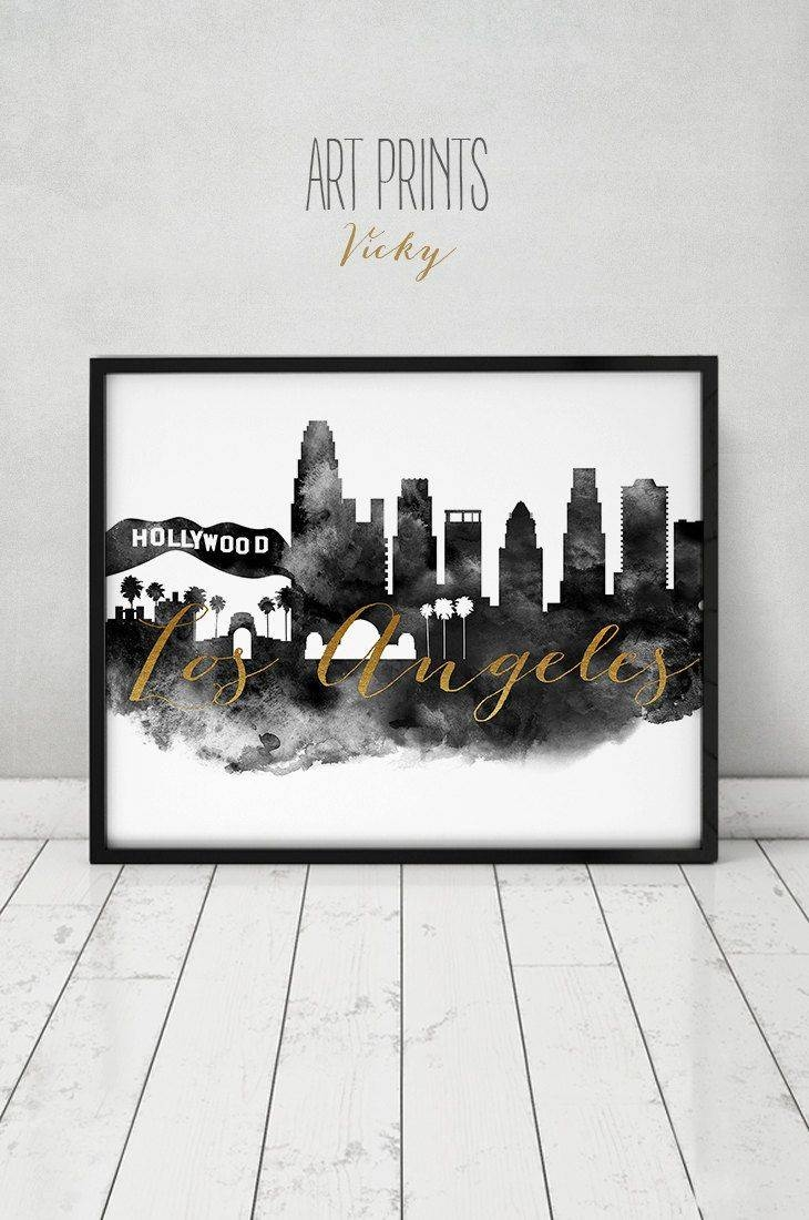 80 Best City Skylines In Black And White Images On Pinterest With Latest Los Angeles Wall Art (View 11 of 20)