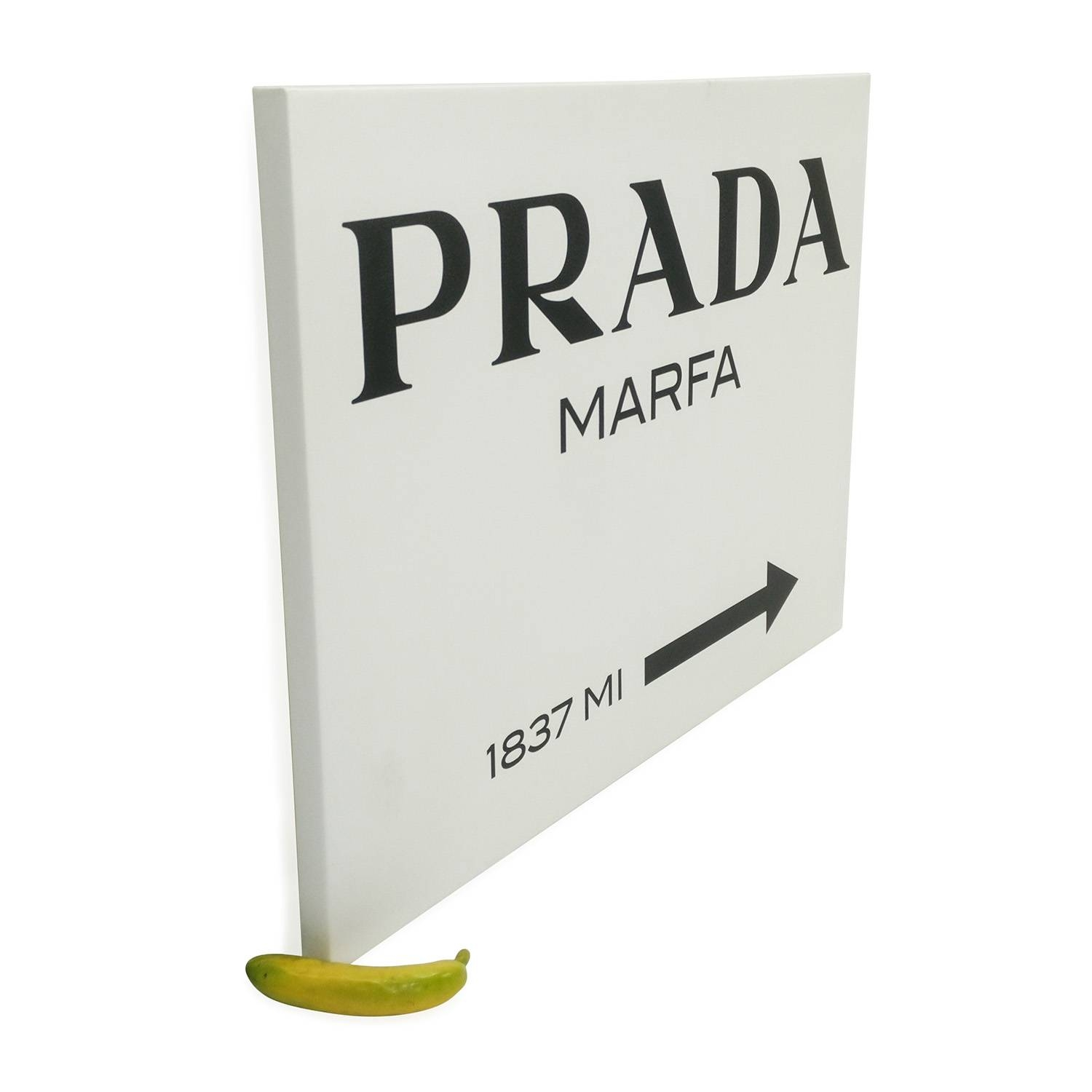 90% Off – Prada Marfa Canvas From Gossip Girl / Decor Intended For Most Recent Prada Wall Art (View 20 of 25)