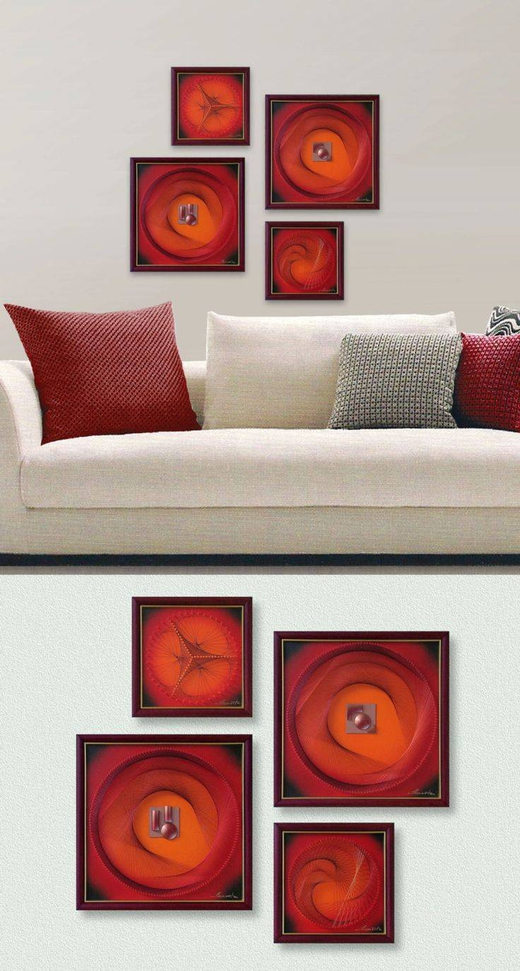 934 Best Trådbilleder Images On Pinterest | Frames, Nail String Within Most Up To Date 3D Modern Wall Art (View 5 of 20)