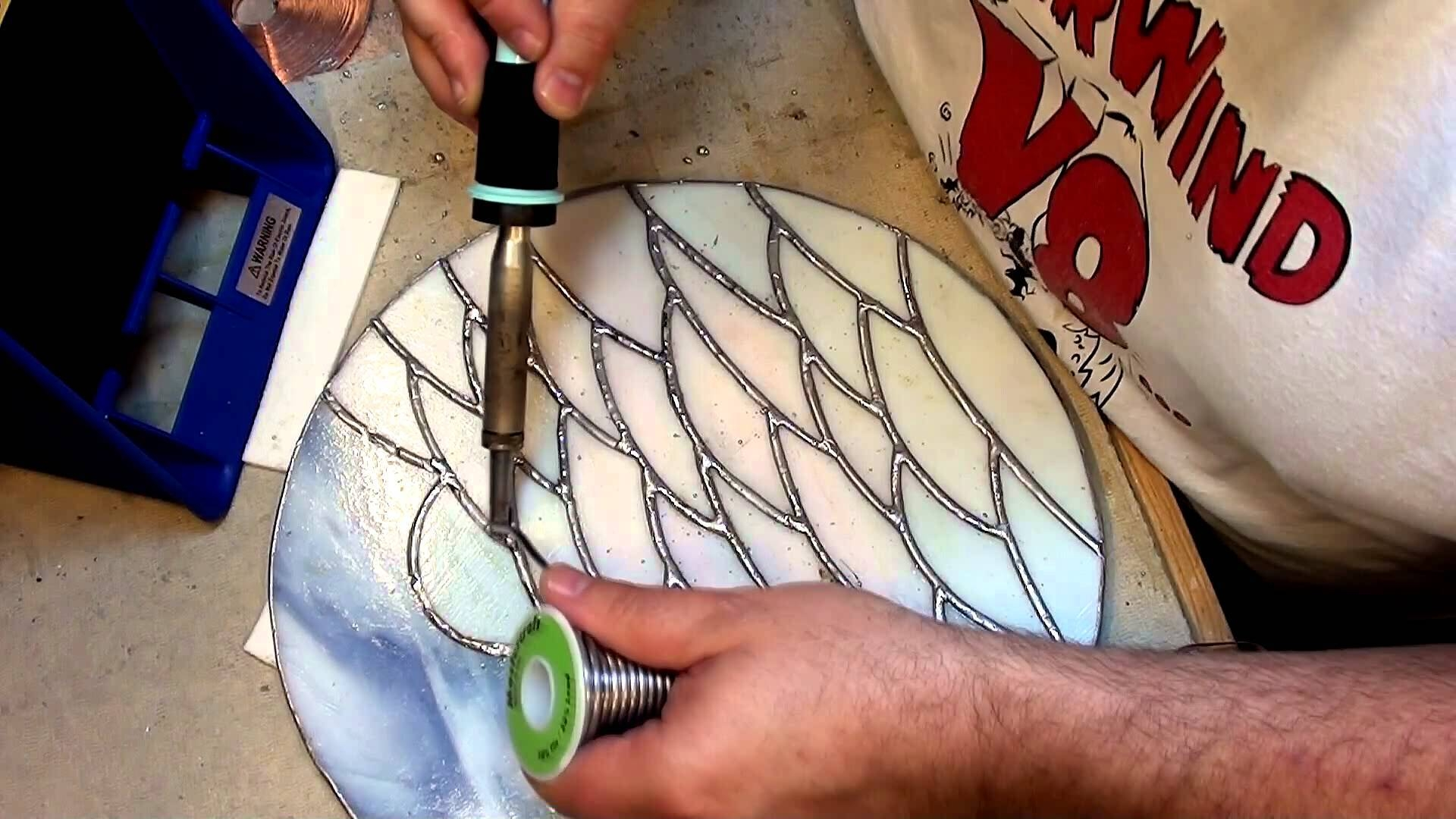 A Circular Fused Glass Wall Hanging – Part 4 – Youtube With Regard To 2018 Fused Glass Wall Art Hanging (View 14 of 25)