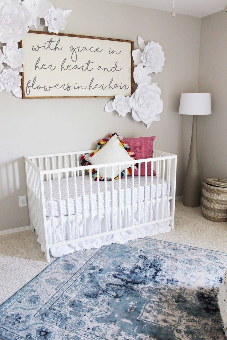 A Little Girl's Bedroom With Rugs Usa's Beaumont Medallion Vi22 Regarding 2018 Little Girl Wall Art (View 6 of 20)