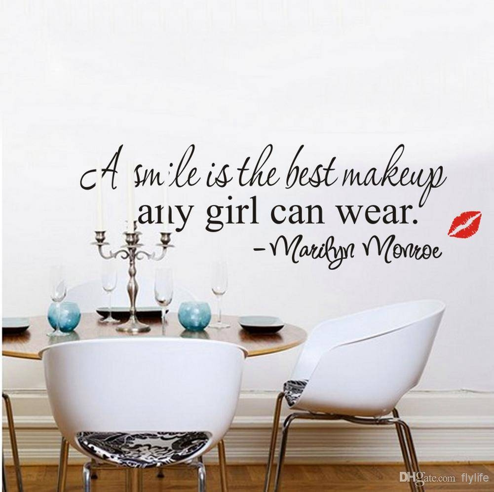 A Simile Is The Best Makeup Any Girl Can Wear Marilyn Monroe With Regard To 2017 Marilyn Monroe Wall Art (View 17 of 25)