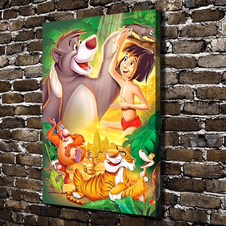A995 Tthe Jungle Book Children Cartoon Film,hd Canvas Print Home Intended For Most Recent Jungle Canvas Wall Art (View 5 of 20)