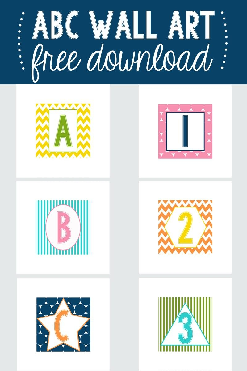 Abc Wall Art For The Play Room W/ Free Designs – I Heart Nap Time For Current Wall Art For Playroom (View 4 of 30)
