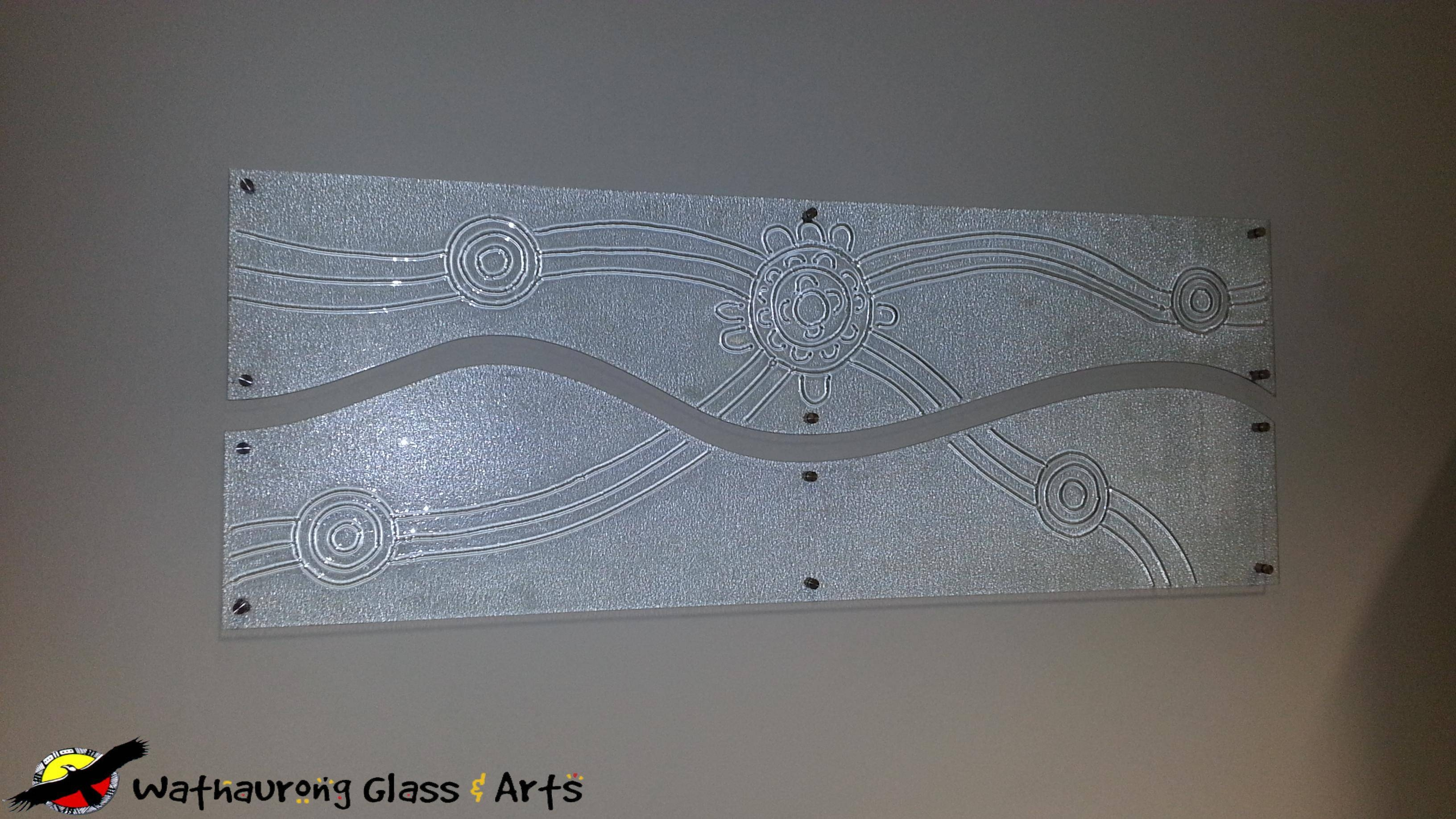 Aboriginal Glass Art Panel – Wathaurong Glass Within 2018 Glass Wall Art Panels (View 3 of 20)