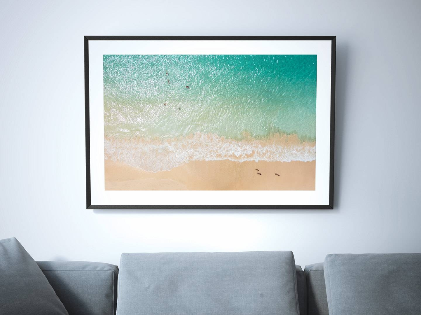 Above // Large Beach Poster Print Aerial Beach Photography Inside Most Up To Date Photography Wall Art (View 2 of 25)