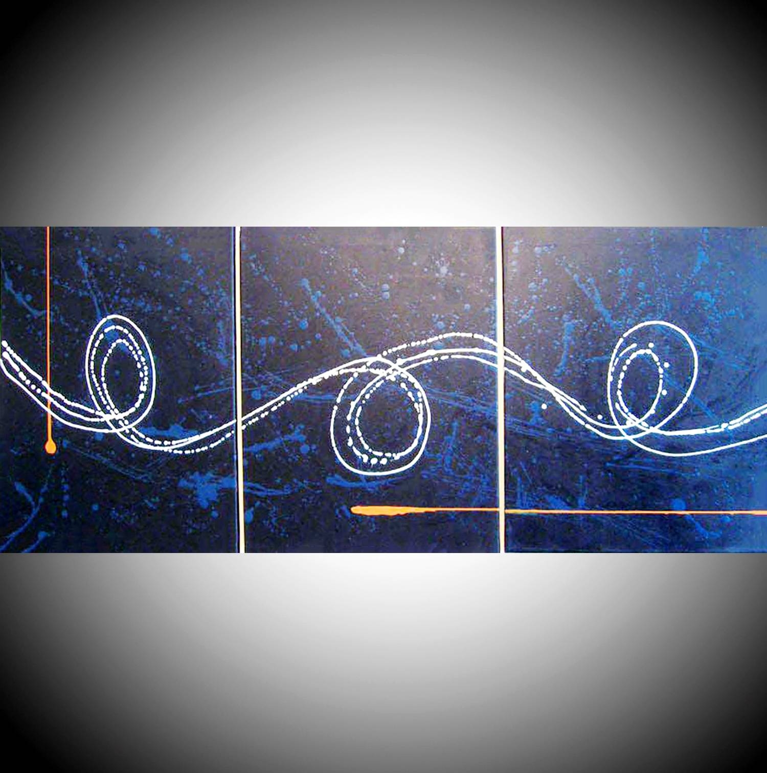 Abstract Art For Sale Big Blue Big Canvas With Latest Triptych Art For Sale (View 16 of 20)