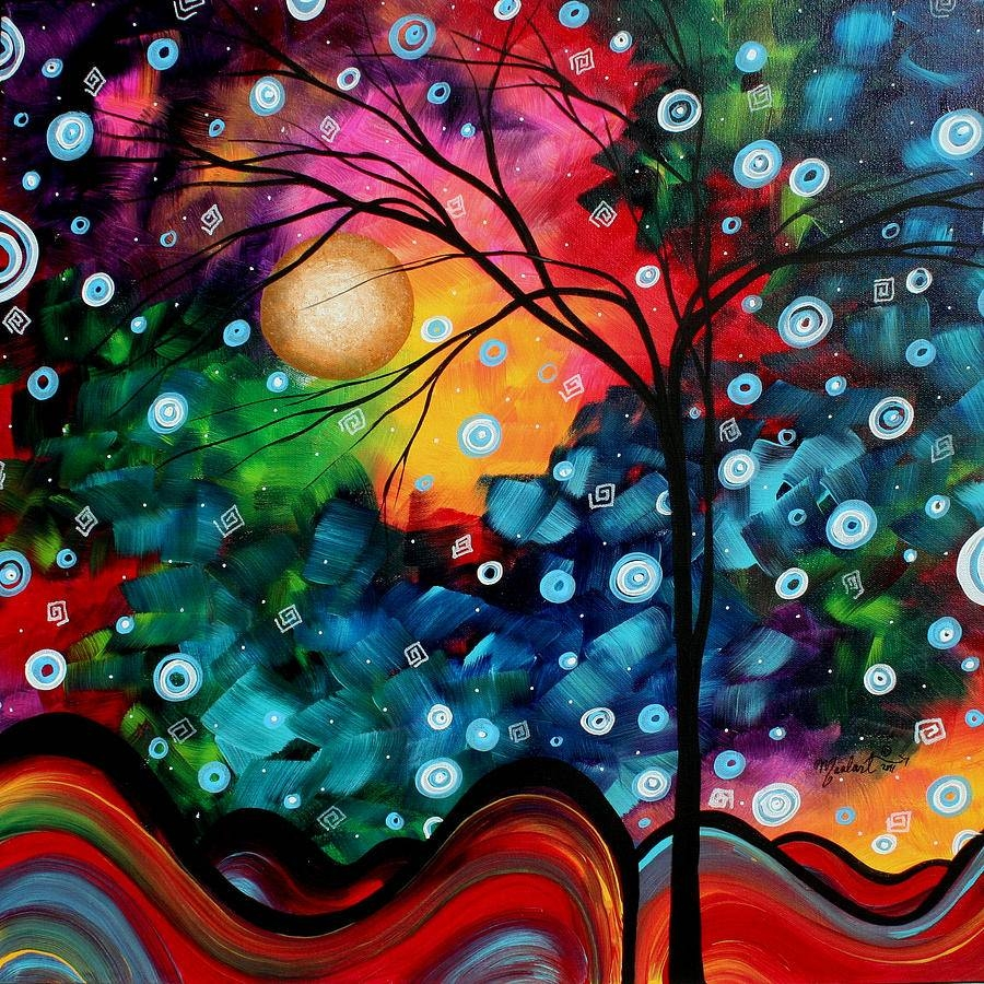 Abstract Art Landscape Tree Painting Brilliance In The Sky Madart Throughout 2018 Megan Duncanson Metal Wall Art (View 23 of 25)