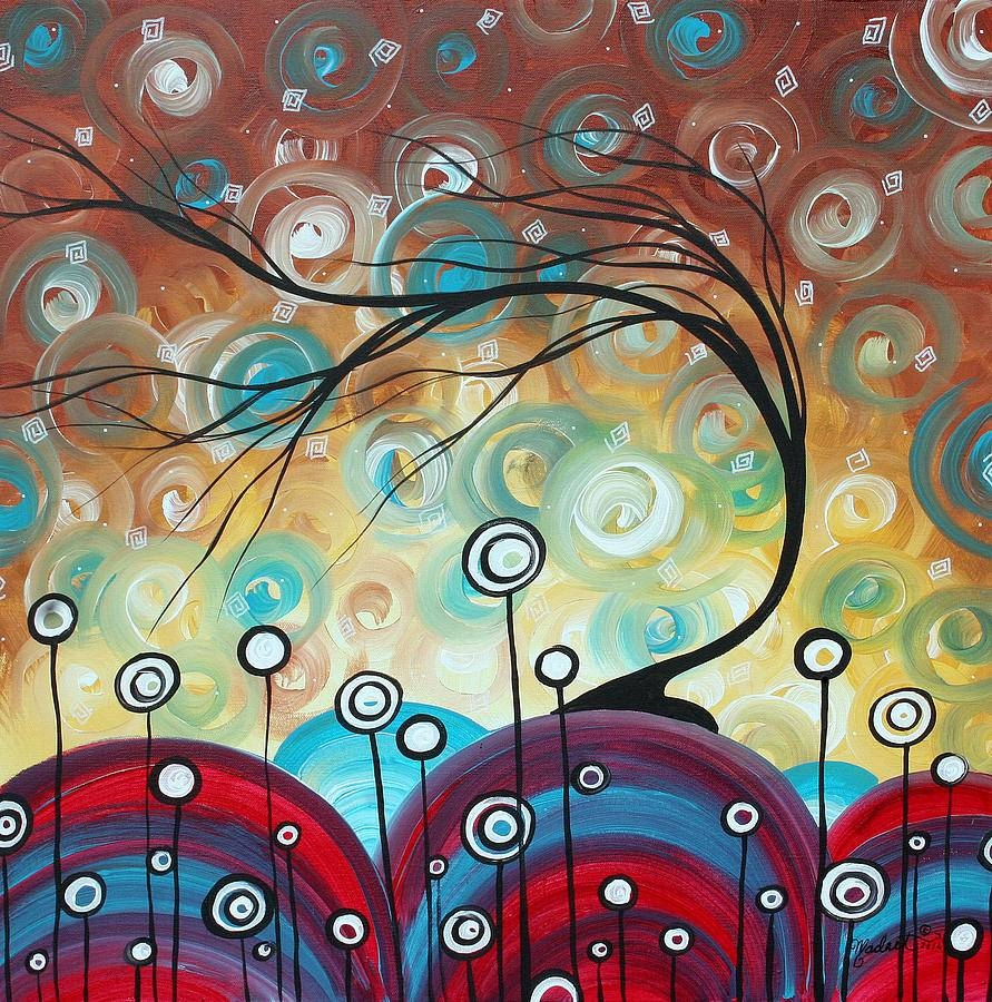 Abstract Art Original Landscape Painting Everlastingmadart Intended For Most Recent Megan Duncanson Metal Wall Art (View 25 of 25)