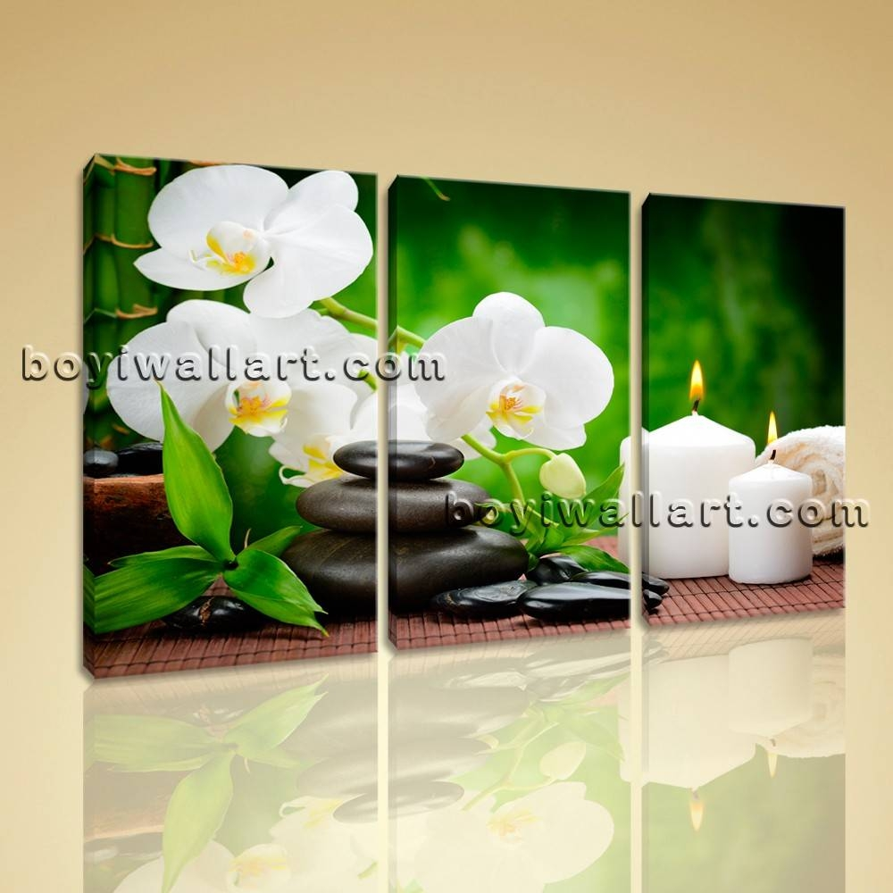 Abstract Feng Shui Painting Hd Print Decorative Home Canvas Wall Intended For Most Up To Date Green Canvas Wall Art (View 6 of 20)