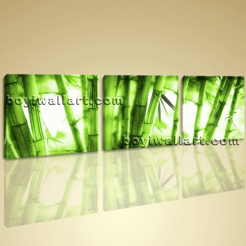 Abstract Feng Shui Painting Print On Canvas Bamboo Wall Art Home Deocr With Regard To Newest Feng Shui Wall Art (View 4 of 20)