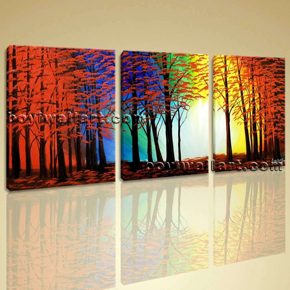 Abstract Landscape Painting Print On Canvas Original Wall Art Framed In 2018 Oversized Abstract Wall Art (View 2 of 20)
